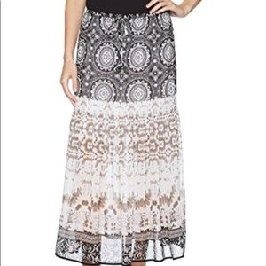 New Tribal Pull On Maxi Skirt with Tassel, Stone